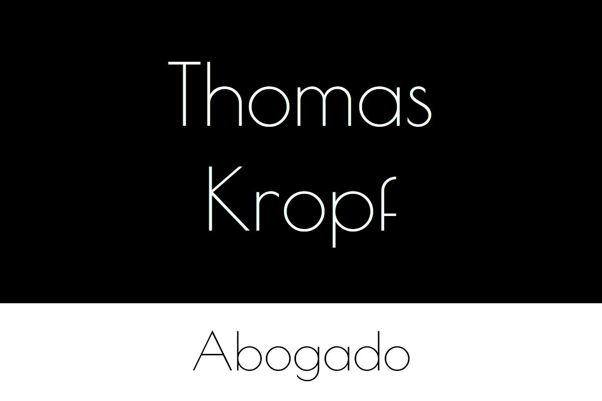 Thomas Kropf abogado