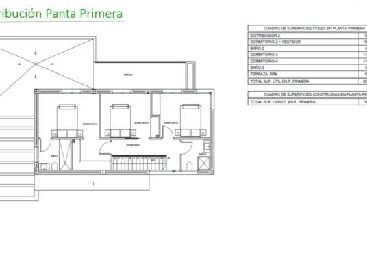 Villa en Beniarbeig Planta Primera